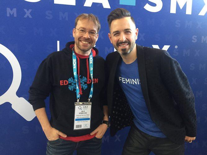 Ich (links - Nils Römeling) mit Seo-Legende aus den USA Rand Fishkin von moz.com